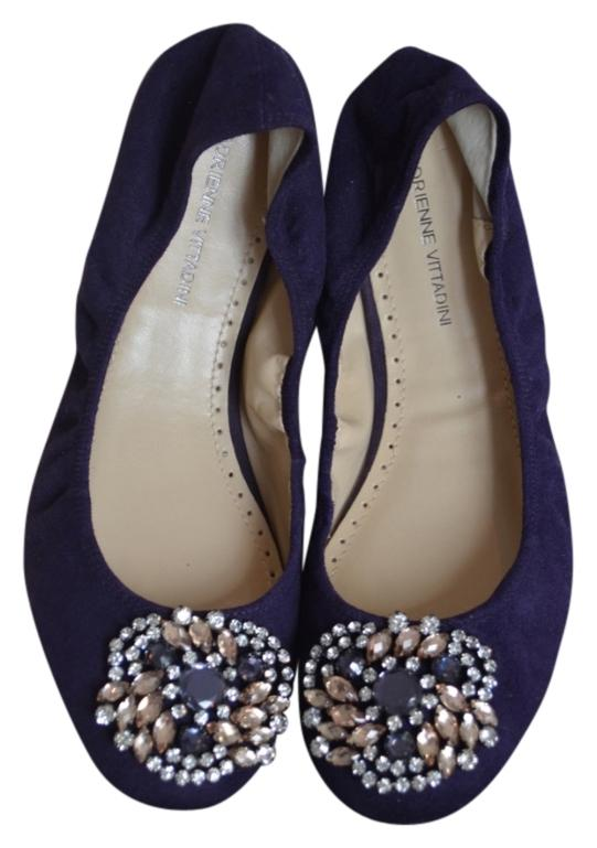 Adrienne Vittadini Crystal Suede Flats with mastercard online eJ7QgvXeXt