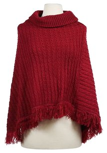 Adrienne Vittadini Womens Sweater Knit Cape