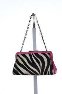 Adrienne Vittadini Womens Animal Print Cowhide Handbag Shoulder Bag