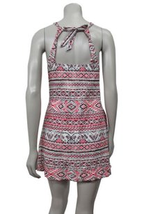 Aropostale short dress pink multi Aeropostale Mosaic Halter on Tradesy