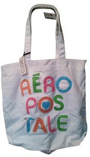 Aropostale Tote in White with multicolor letters