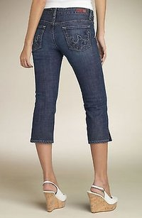AG Adriano Goldschmied 28r Capri/Cropped Denim-Dark Rinse