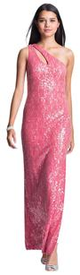 Aidan Mattox Sequin One Shoulder Prom Fitted Dress