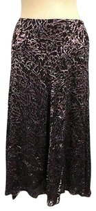 AK Anne Klein Abstract Skirt Purple
