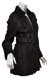 Akris Womens Shearling Black Jacket