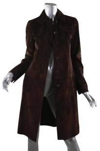 Akris Womens Suede Brown Jacket