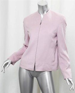 Akris Light Cashmere Zip Front Coat Pink Jacket