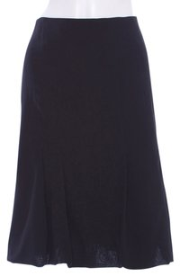 Akris Punto Wool Fit And Flare Skirt Black