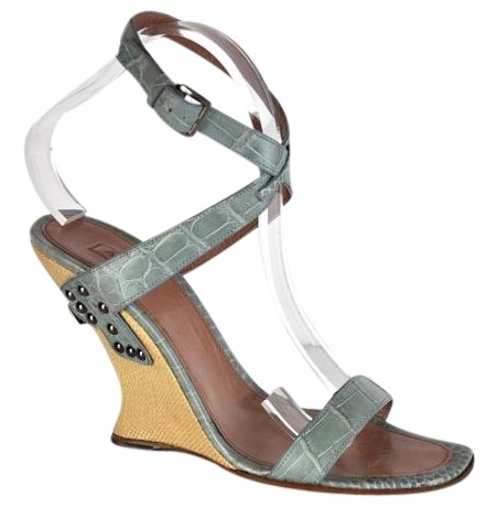 Manchester cheap price Alaïa Alligator Slingback Wedges sale shopping online with credit card free shipping cheap sale many kinds of IGRGBs