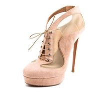 ALAÏA Alaia Suede Mesh High Blush Pumps