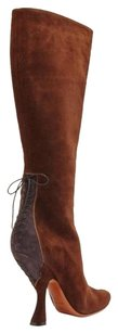 ALAA Alaia Suede Knee High Brown Boots