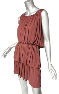 Alberta Ferretti Draped Tiered Sleeveless Pleated 238 Dress