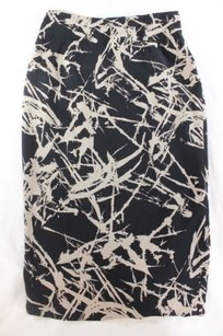 A.L.C. A Work Of Art Black Abstract Skirt Multi-Color