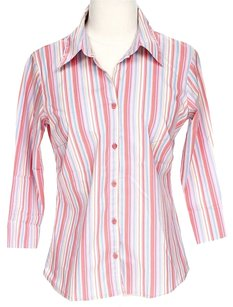 A.L.C. Pastel Striped Button Down Shirt