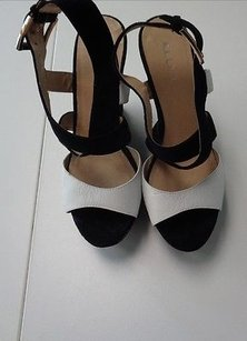 ALDO Wedge Heels W Thick Straps Synthetic B3129 Black And White Platforms