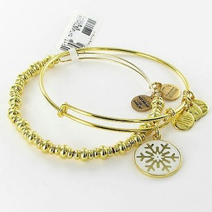 Alex and Ani Alex And Ani Holiday Snowflake Set Of Expandable Bracelet Gold-tone