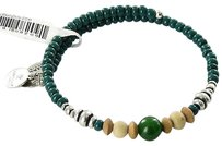 Alex and Ani Alex And Ani Canyon Wrap Forest Green Ewb Expandable Bracelet Russian Silver