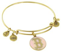 Alex and Ani Alex And Ani As12brs01rg Boston Red Sox Logo Pink Enamel Bracelet Russian Gold