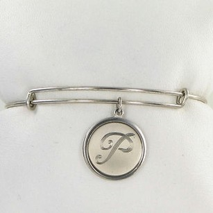 Alex and Ani Alex And Ani Pc13b129ps Initial P Expandable Bracelet Sterling Silver Charm