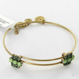 Alex and Ani Alex And Ani Sour Apple Sparkler Crystals Expandable Bracelet Russian Gold