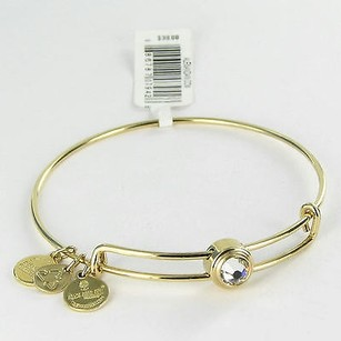Alex and Ani Alex Ani Sacred Studs Crystal Ewb Expandable Bracelet Gold-tone