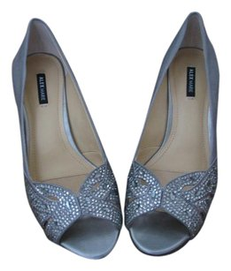 Alex Marie Padded Foot Patent Leather Heel Patent Leather Toe Silver Formal