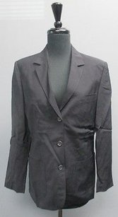 Alexander McQueen Alexander Mcqueen Navy Blue Wool Button Up Blazer With Pockets Bb1540