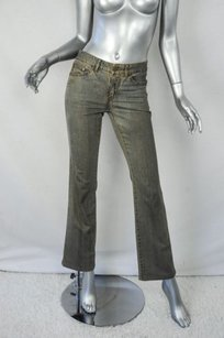 Alexander McQueen Distressed Street Chic Boot Cut Jeans