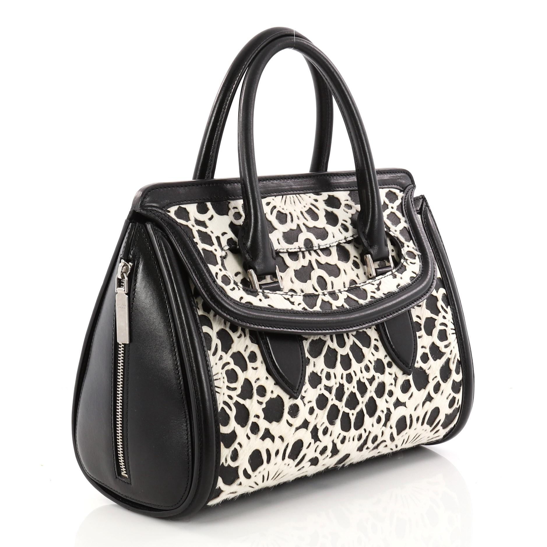 Alexander McQueen Alexander Mcqueen Heroine Tote Laser Cut Calf Hair And Leather East West Wj5J8cQI