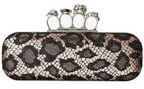 Alexander McQueen Black Lace Cross Body Bag