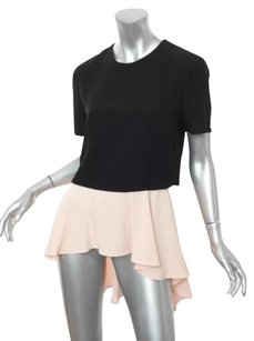 Alexander McQueen Womens Blackblush Pink Tunic 426 Top Black+Pink