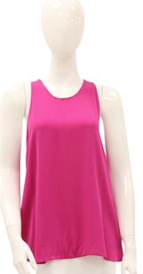 Alexander Wang Silk Racerback Dropped Arms Top Pink