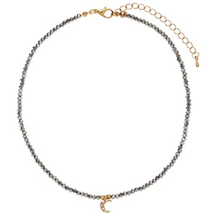 Alexia Crawford Beaded Crescent Moon Charm Necklace