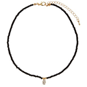 Alexia Crawford Black Beaded Hamsa