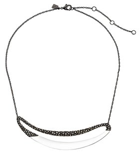 Alexis Bittar Alexis Bittar Crystal Encrusted Clear Lucite Link Necklace