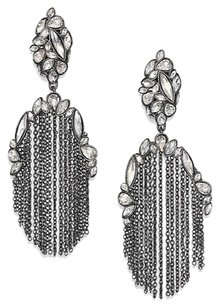 Alexis Bittar Alexis Bittar Liquid Crystal Broken Glass Chain Tassel Clip On Earrings