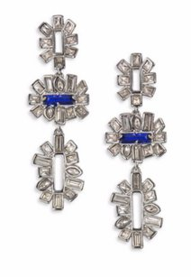 Alexis Bittar ALEXIS BITTAR MissHavisham Crystal Baguette Tiered Drop Earrings