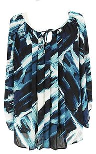 Alfani Womens Polyester Top blue