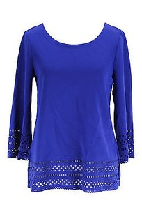 Alfani Womens Polyamide Top blue