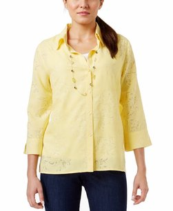 Alfred Dunner 3-4-sleeve Top