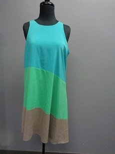 Ali Ro short dress Blue Green Taupe Sleeveless Color on Tradesy