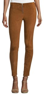 Alice + Olivia Front Suede Tan Pants