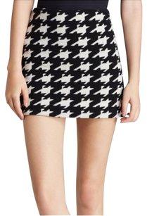 Alice + Olivia Mini Skirt Black & White