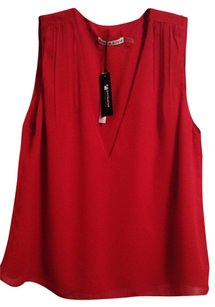 Alice + Olivia Sleeveless Summer Spring Top Red