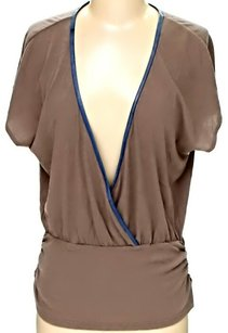 Alice + Olivia V-neck Top Brown