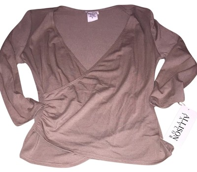 Preload https://item4.tradesy.com/images/allison-taylor-light-brown-blouse-size-8-m-1496868-0-0.jpg?width=400&height=650