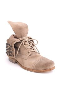 AllSaints Brown Suede Leather Beige Boots