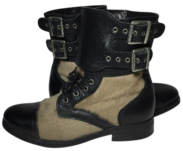 looking for AllSaints Damisi Moto Ponyhair Boots discount get authentic outlet discount authentic E2BjI