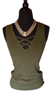 Ambiance Apparel Top Olive