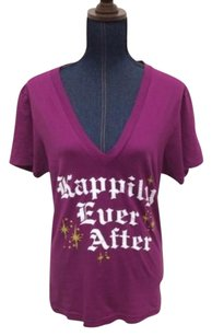 American Apparel Womens Happily Ever After T Shirt Purple